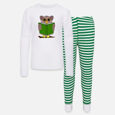 Hijacker The owl is reading a book - Kids' Pajama Set