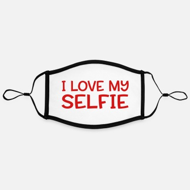Selfie selfie - Adjustable Contrast Face Mask (Large)