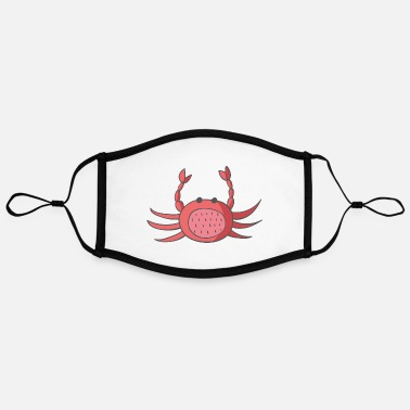Crab crab - Adjustable Contrast Face Mask (Large)