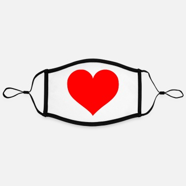 Cuore 2000px Love Heart SVG svg - Adjustable Contrast Face Mask (Large)