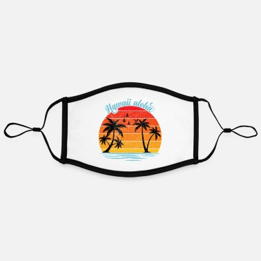 Hawaii Hawaii - Adjustable Contrast Face Mask (Large)