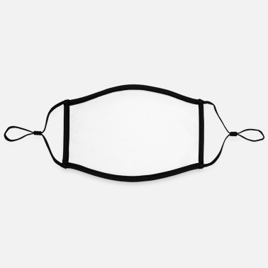 Schwarz schwarz - Adjustable Contrast Face Mask (Large)