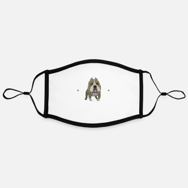 Bulldog Bulldog Gifts - Bulldog - Adjustable Contrast Face Mask (Large)