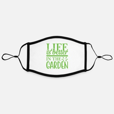Garden Gardening Gardening Gardening Gardener - Adjustable Contrast Face Mask (Large)