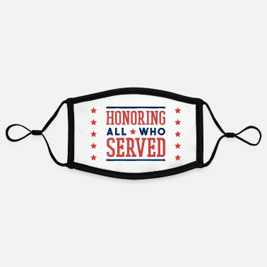 Veterans Veterans Day Veterans Day Veterans Badge - Adjustable Contrast Face Mask (Small)
