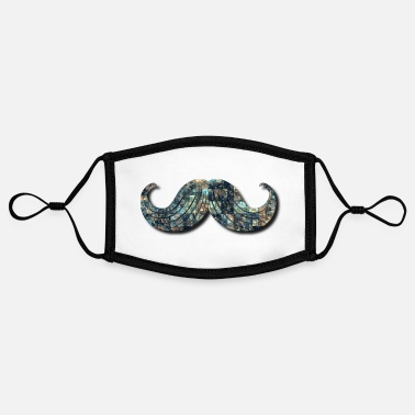 Shade Mustache with Shade - Adjustable Contrast Face Mask (Small)