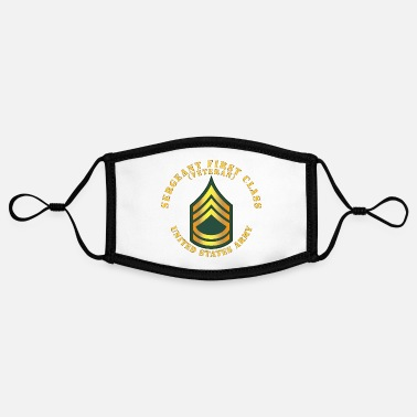 Veterans Army Sergeant First Class SFC Veteran - Adjustable Contrast Face Mask (Small)