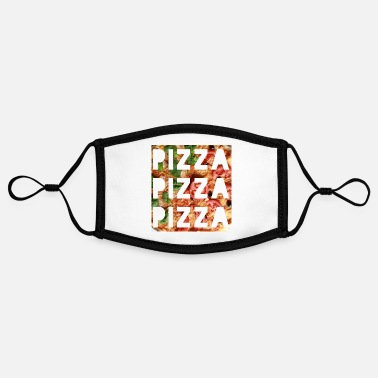 Pizza pizza pizza pizza - Adjustable Contrast Face Mask (Small)