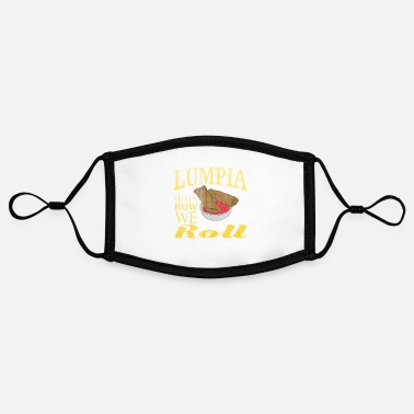 Cuisine Philippines Cuisine - Adjustable Contrast Face Mask (Small)