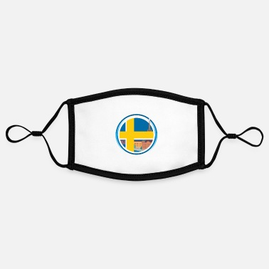 Sweden sweden - Adjustable Contrast Face Mask (Small)