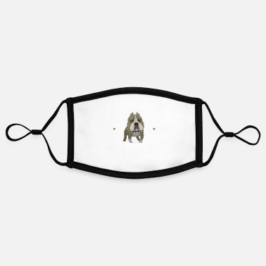 Bulldog Bulldog Gifts - Bulldog - Adjustable Contrast Face Mask (Small)