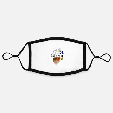 Inspiration Inspire to be Inspired - Adjustable Contrast Face Mask (Small)