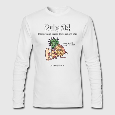 Rule 34 - Men's Long Sleeve T-Shirt by Next Level