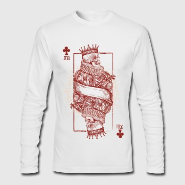 Playing Card Skull - Men's Long Sleeve T-Shirt by Next Level
