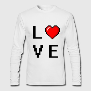 Pixelated love (FOR GAMERS) - Men's Long Sleeve T-Shirt by Next Level
