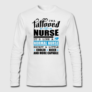 Tattooed Nurse Pfade schwarz NICER - Men's Long Sleeve T-Shirt by Next Level
