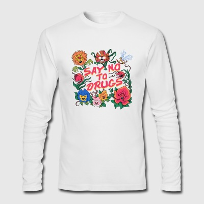 Learn From The Flowers T Shirt - Men's Long Sleeve T-Shirt by Next Level