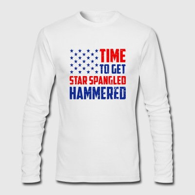 Time To Get Star Spangled Hammered - Men's Long Sleeve T-Shirt by Next Level