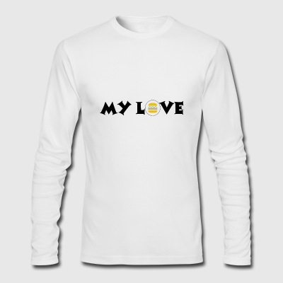 burger my love - Men's Long Sleeve T-Shirt by Next Level