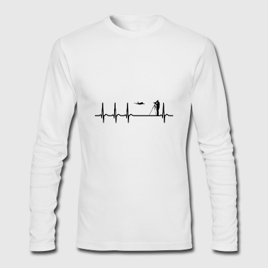 Heartbeat Spotting Airplanes Cool Funny Geek Gift - Men's Long Sleeve T-Shirt by Next Level