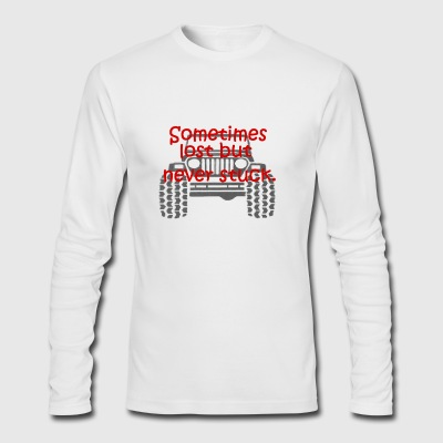 Jeep Stuck - Men's Long Sleeve T-Shirt by Next Level