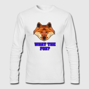 what the fox - Men's Long Sleeve T-Shirt by Next Level