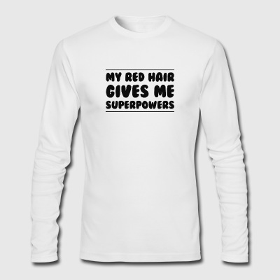 Red Head Hair - Men's Long Sleeve T-Shirt by Next Level