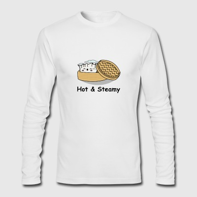 Hot & Steamy Dumpling - Men's Long Sleeve T-Shirt by Next Level