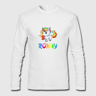 Ronny Unicorn - Men's Long Sleeve T-Shirt by Next Level