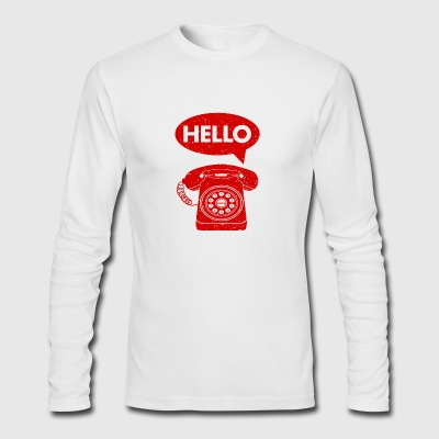 hello phone amazon - Men's Long Sleeve T-Shirt by Next Level