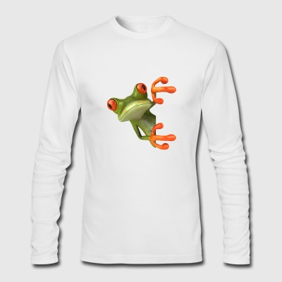 Amphibian, frog, wall - Men's Long Sleeve T-Shirt by Next Level