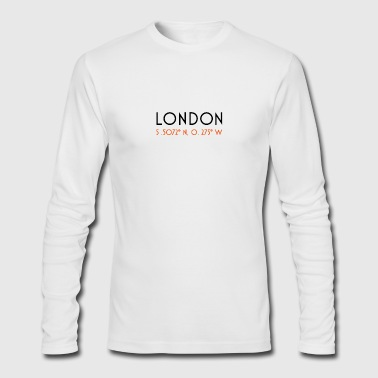 London CoordinateLondon Coordinate - Men's Long Sleeve T-Shirt by Next Level