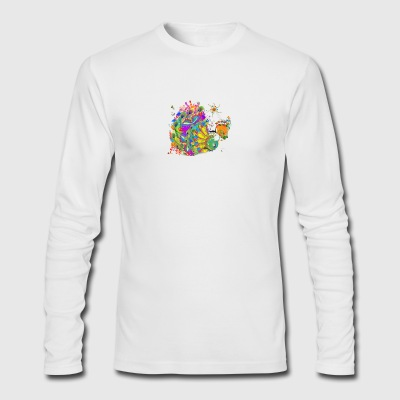 Peacock Dance - Men's Long Sleeve T-Shirt by Next Level