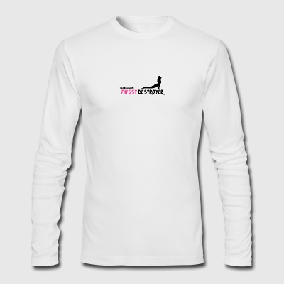 My occupation is pussy destroyer - Men's Long Sleeve T-Shirt by Next Level