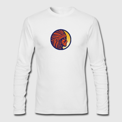 indian_inside_sicrle_sun - Men's Long Sleeve T-Shirt by Next Level