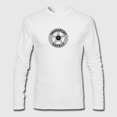Transport Safely Logo - Men's Long Sleeve T-Shirt by Next Level