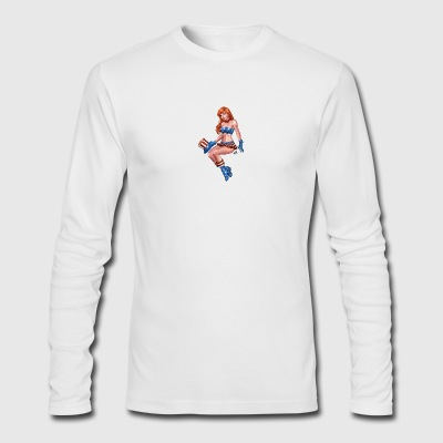 Redhead Pinup Girl - Men's Long Sleeve T-Shirt by Next Level