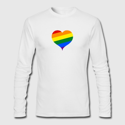 LGBT PRIDE HEART - Men's Long Sleeve T-Shirt by Next Level