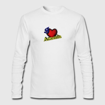 I Love Armenia - Men's Long Sleeve T-Shirt by Next Level