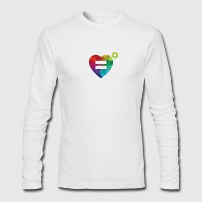The Rainbow Equality Heart – Love Unlimited - Men's Long Sleeve T-Shirt by Next Level