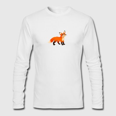 Predator fox animal wildlife kids image vector art - Men's Long Sleeve T-Shirt by Next Level