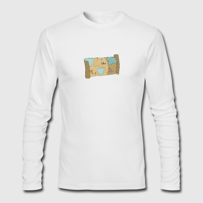 pirate treasure map - Men's Long Sleeve T-Shirt by Next Level