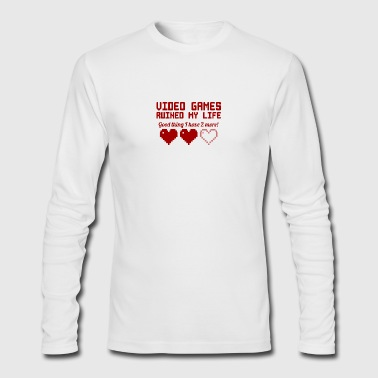 Video Games Ruined My Life vectorized - Men's Long Sleeve T-Shirt by Next Level