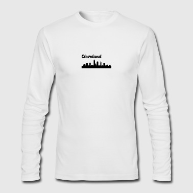 Cleveland OH Skyline - Men's Long Sleeve T-Shirt by Next Level