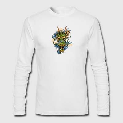 Dragon T shirt - Funny Dragon Illustration - Men's Long Sleeve T-Shirt by Next Level