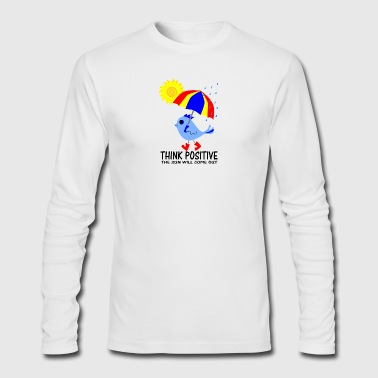 Blue Bird Think Positive Image - Men's Long Sleeve T-Shirt by Next Level