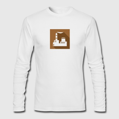 flat factory vector - Men's Long Sleeve T-Shirt by Next Level