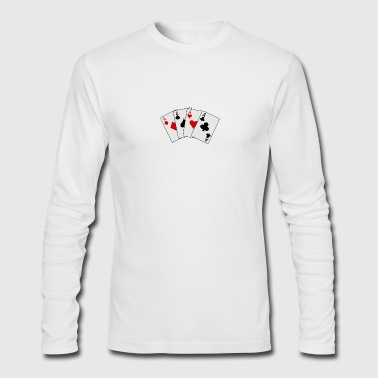 cards 20clip 20art playing card2 - Men's Long Sleeve T-Shirt by Next Level
