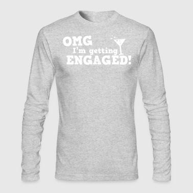 omg im getting engaged with coaktail glass marriage - Men's Long Sleeve T-Shirt by Next Level