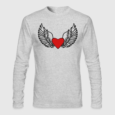 Heart and Wings - Men's Long Sleeve T-Shirt by Next Level